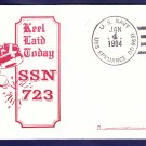 USS OKLAHOMA CITY SSN-723 Keel Laying Naval Submarine Cover