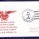 Cruiser USS TEXAS CGN-39 Commissioning Naval Cover