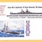 Battleship USS MISSOURI BB-63 Pearl Harbor Attack Anniv. Naval Cover