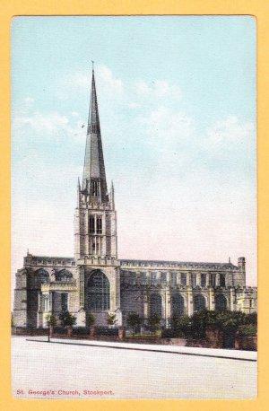 ST. GEORGE'S CHURCH, Stockport United Kingdom Postcard