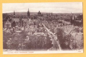 View of OXFORD FROM MAGDALEN TOWER United Kingdom Postcard