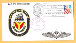USS YELLOWSTONE AD-41 Decommissioning Naval Cover