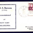 USS BERCEAU YFB-3 Decommissioning 1940 Naval Cover