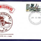 USS MAHAN DDG-42 Decommissioning Naval Cover