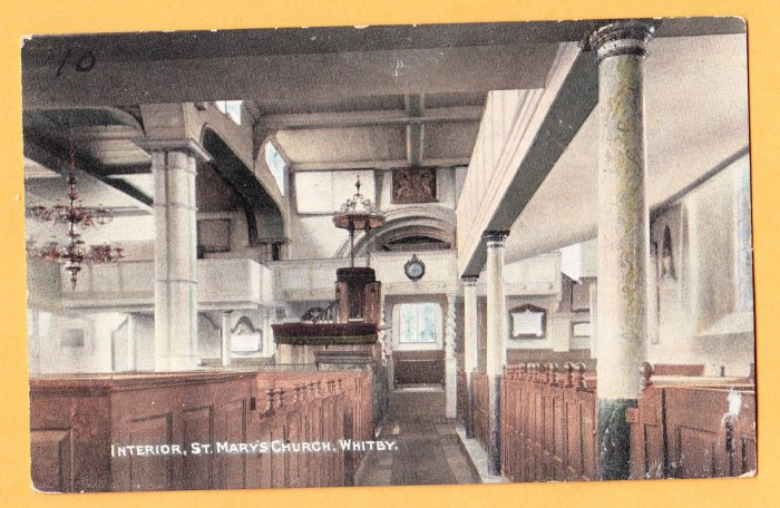 ST. MARY'S CHURCH WHITBY United Kingdom Postcard
