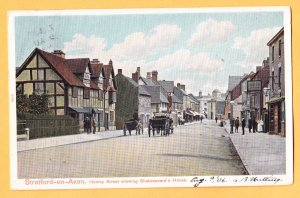 HENLEY STREET STARTFORD-ON-AVON SHAKESPEARE'S HOUSE United Kingdom Postcard