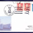 USS BAUER DE-1025 MHcachets Naval Cover ONLY 1 MADE