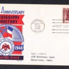 #955 MISSISSIPPI TERRITORY Stamp FDC
