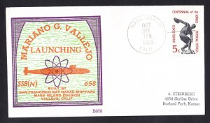 Submarine USS MARIANO G. VALLEJO SSBN-658 Launching BECK #B575 Naval Cover