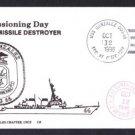 USS GONZALEZ DDG-66 Commissioning Naval Cover