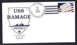 USS RAMAGE DDG-61 Commissioning Naval Cover