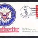Guided Missile Destroyer USS WAINWRIGHT DLG-28 Armed Forces Day BECK #B726 Naval Cover