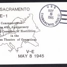 USS SACRAMENTO AOE-1 WWII Victory in Europe Anniversary Naval Cover