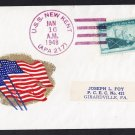 USS NEW KENT APA-217 Patriotic Flag Cachet 1948 Naval cover
