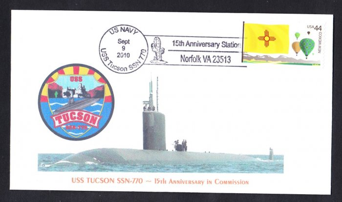 USS TUSCON SS-770 15th Anniversary MHcachets Naval Cover ONLY 8 MADE
