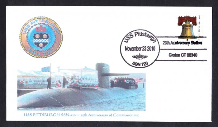 USS PITTSBURGH SSN-720 25th Anniversary MHcachets Naval Submarine Cover ONLY 8 MADE