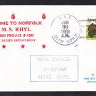 HMS RHYL F-129 Visit Norfolk VA Royal Navy Ship Cover