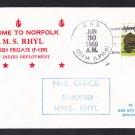 HMS RHYL F-129 Visit Norfolk VA Royal Navy Ship Cover