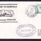 HMS SHOULTON M-1182 Visit Norfolk VA Royal Navy Ship Cover