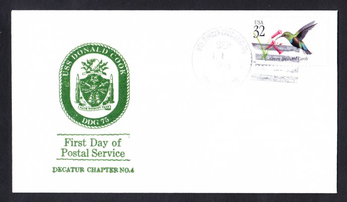 USS DONALD COOK DDG-75 FDPS Naval Cover