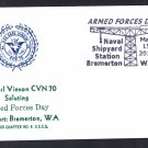 USS CARL VINSON CVN-70 Armed Forces Day Naval Cover