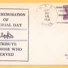 USS SIRIUS AK-15 Memorial Day 1936 Naval Cover