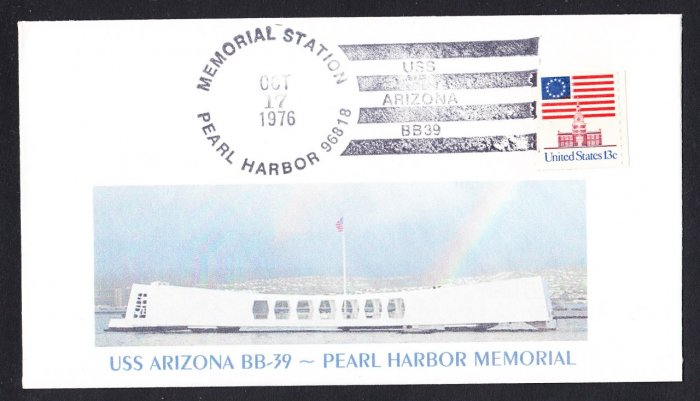 USS ARIZONA BB-39 Memorial Battleship Naval Cover MHcachets ONLY 2 MADE