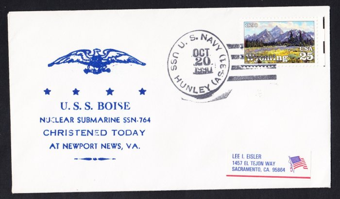 USS BOISE SSN-764 Launching Naval Submarine Cover