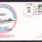Replenisment Ship USS SACRAMENTO AOE-1 Commissioning BECK #B426 Naval Cover