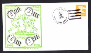 USS GUAM LPH-9 Anniversary of the US Navy Postal Service Naval Cover