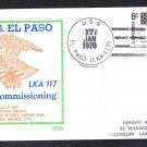 Amphibious Cargo Ship USS EL PASO LKA-116 Commissioning BECK #B828 Naval Cover
