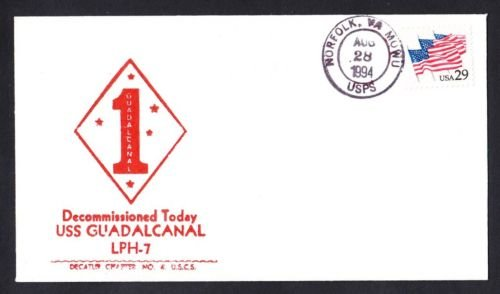 USS GUADALCANAL LPH-7 Decommissioning Naval Cover