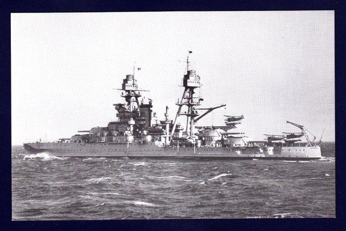 USS ARIZONA BB-39 Battleship Navy Ship Postcard