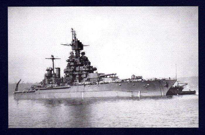 USS MARYLAND BB-46 Battleship Navy Ship Postcard
