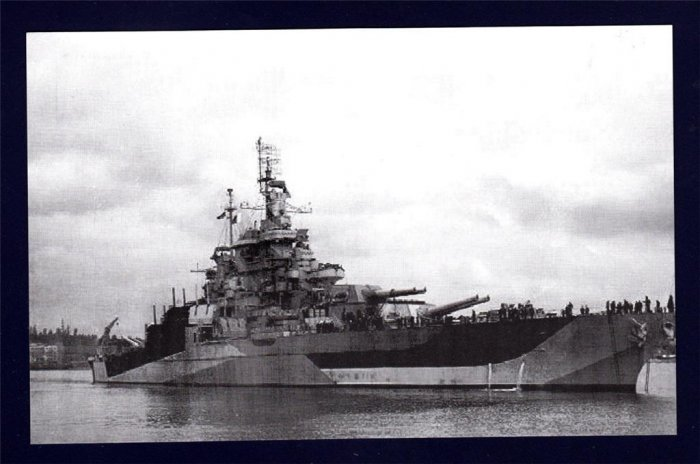 USS WEST VIRGINIA BB-48 Battleship Navy Ship Postcard
