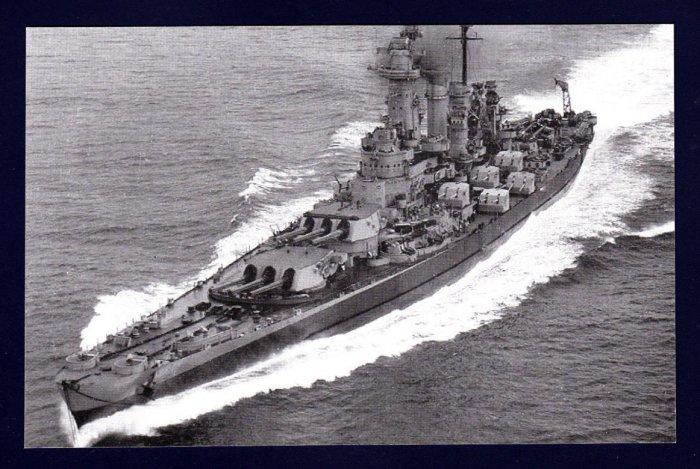 USS WASHINGTON BB-56 Battleship Navy Ship Postcard
