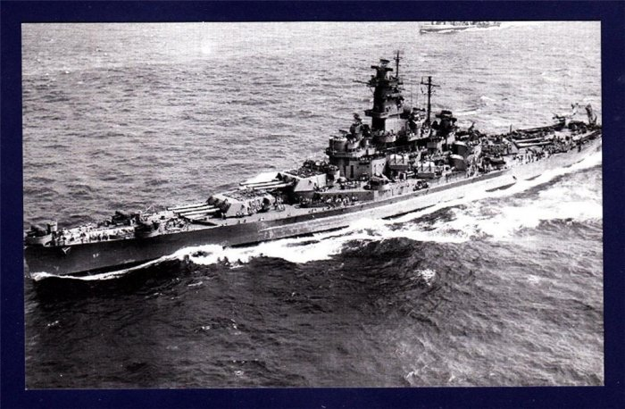 USS SOUTH DAKOTA BB-57 Battleship Navy Ship Postcard