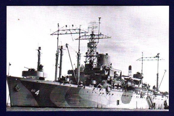 USS ANCON AGC-4 Amphibious Flagship Navy Ship Postcard