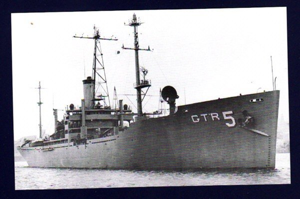 USS LIBERTY AGTR-5 Intelligence Ship Postcard ATTACKED BY ISRAEL 1967