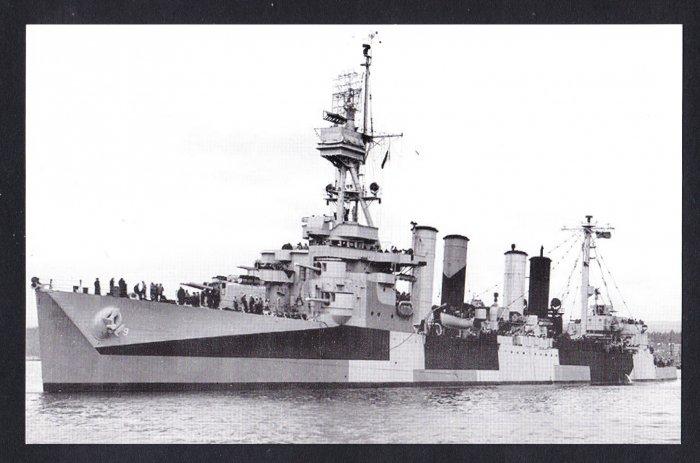 USS RICHMOND CL-9 Cruiser Navy Ship Postcard