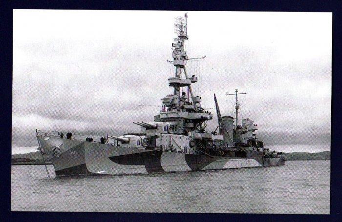 USS SALT LAKE CITY CA-25 Cruiser Navy Ship Postcard