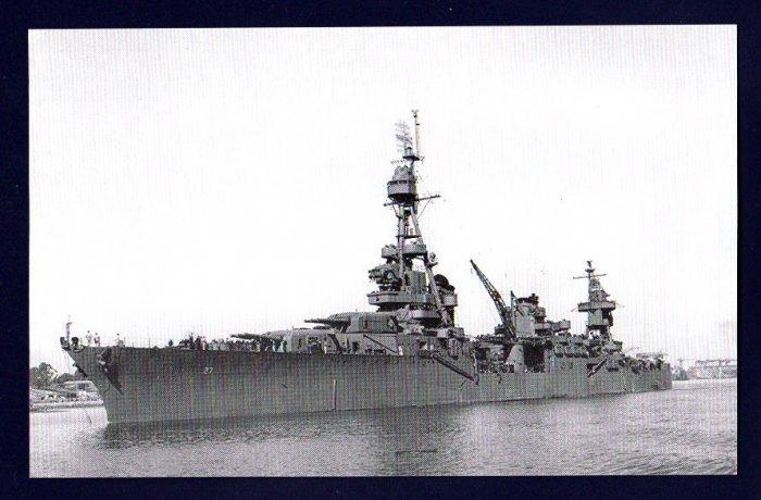 USS CHESTER CA-27 Cruiser Navy Ship Postcard