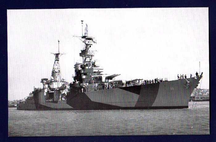 USS PORTLAND CA-33 Cruiser Navy Ship Postcard