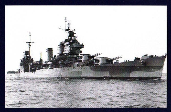 USS SAN FRANCISCO CA-38 Cruiser Navy Ship Postcard