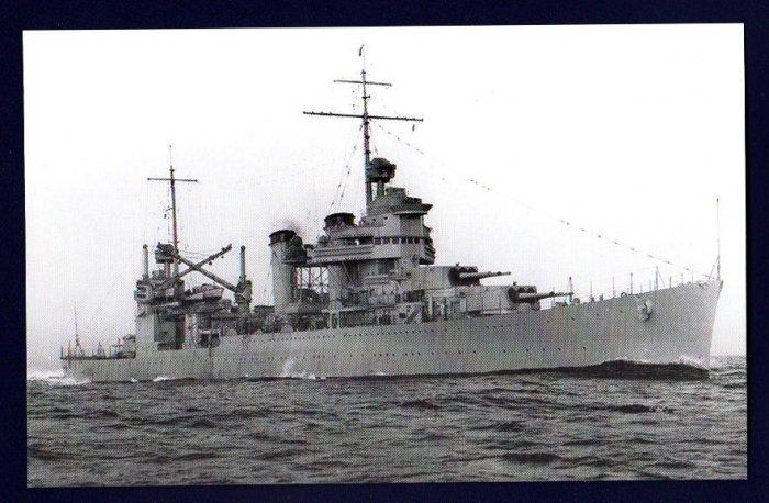 USS VINCENNES CA-44 Cruiser Navy Ship Postcard