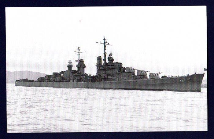 USS SAN DIEGO CL-53 Cruiser Navy Ship Postcard