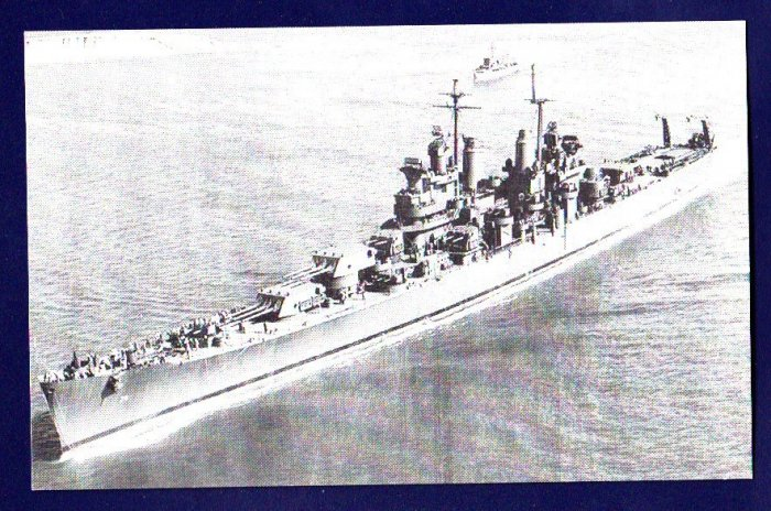 USS CANBERRA CA-70 Cruiser Navy Ship Postcard