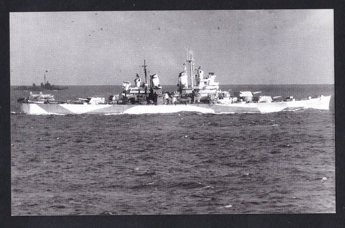 USS CANBERRA CA-70 Cruiser Navy Ship Postcard View #2
