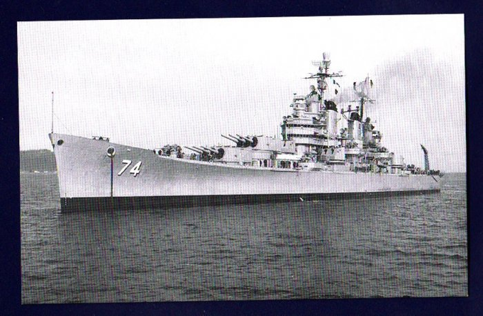 USS COLUMBUS CA-74 Cruiser Navy Ship Postcard