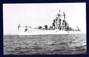 USS MANCHESTER CL-83 Cruiser Navy Ship Postcard